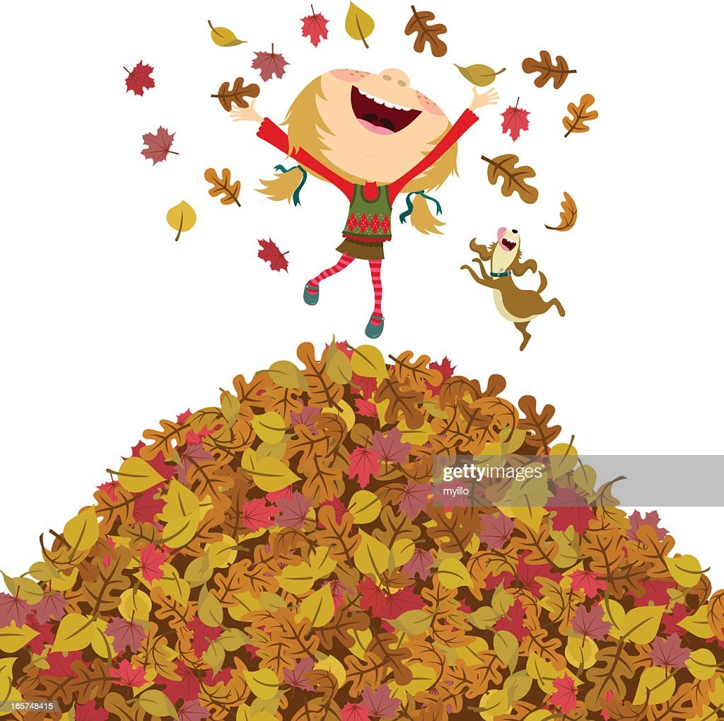 Happy Fall Girl High-Res Vector Graphic - Getty Images