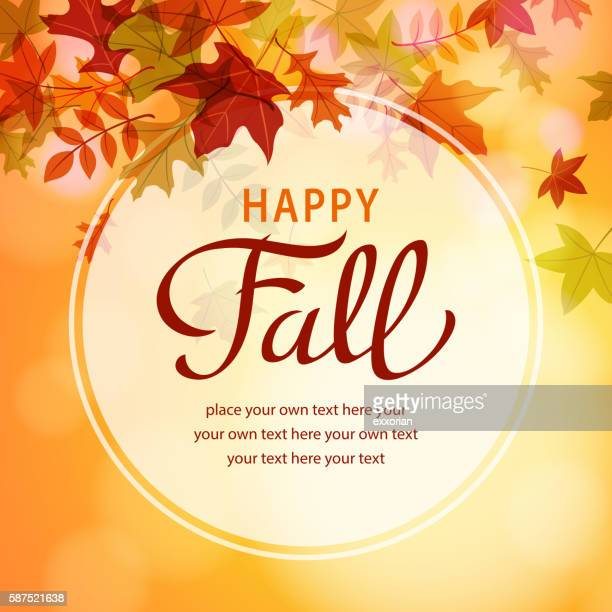 Happy Fall with Leaves