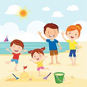 Free Family Beach Clipart And Vector Graphics Clipart Me