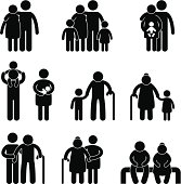 Happy Family Pictogram
