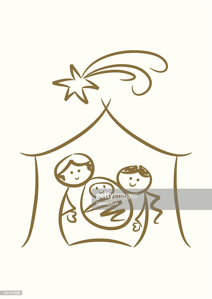 Happy Family: Simple Nativity Scene