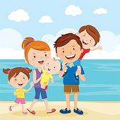 Happy family summer vacation