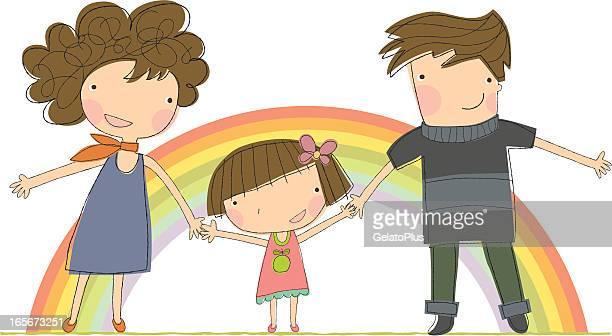 illustrations, cliparts, dessins animés et icônes de heureuse famille - parents