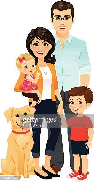 ilustrações, clipart, desenhos animados e ícones de família feliz - família