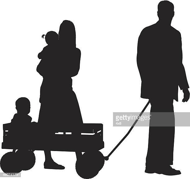 happy family - small stock illustrations, clip art, cartoons, & icons