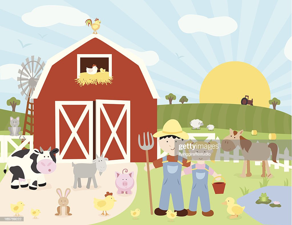 Happy Farm Scene