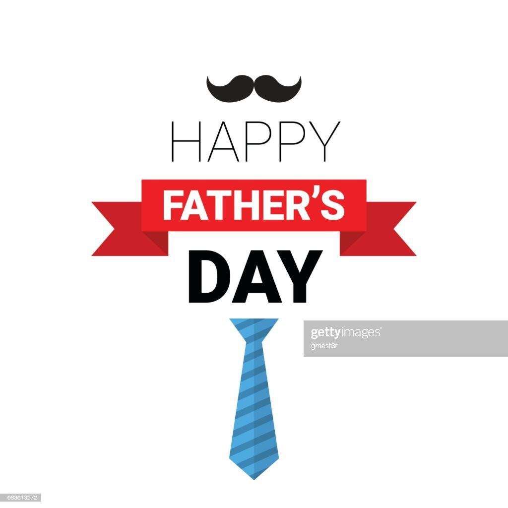 Happy Father Day Family Holiday Greeting Card Retro Poster Vector