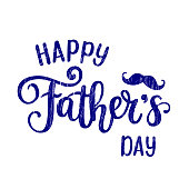 Happy Father s day vector holiday lettering. Congratulations calligraphy modern design