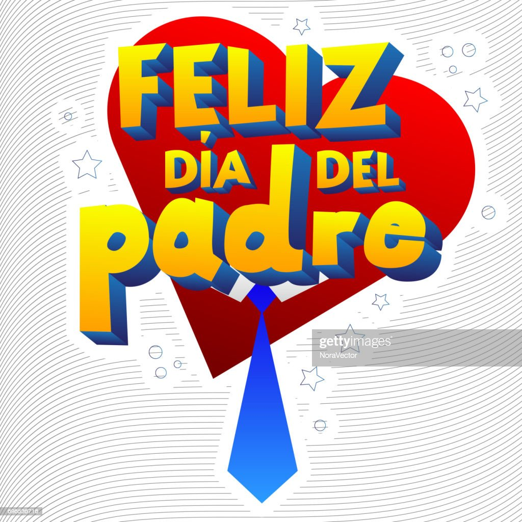 happy fathers day card spanish version vector art getty images