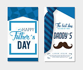 happy fathers day card with calligraphy and accessory