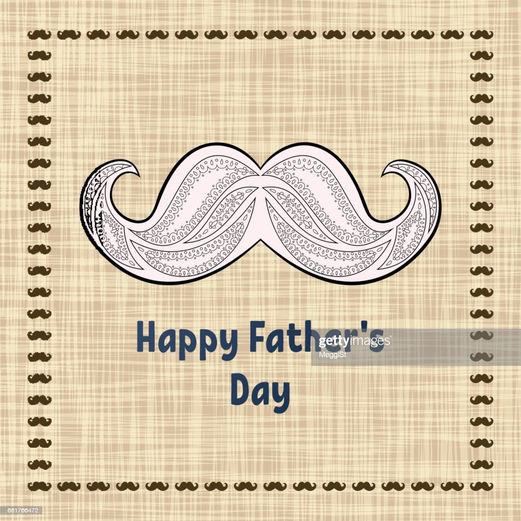 Happy Fathers Day Greeting Card Vector Typography Postcard With A