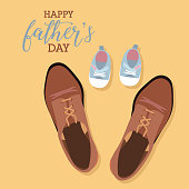 Happy Fathers day greeting card with typographic design. Vector illustration.