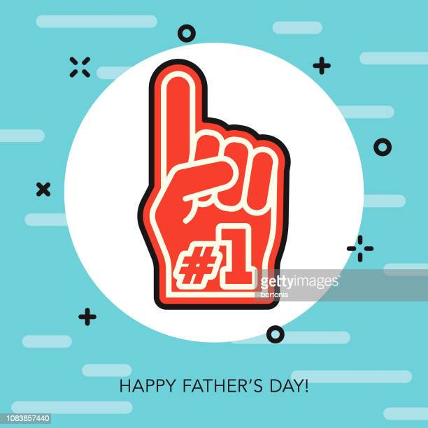 happy father's day thin line icon - fathers day stock illustrations