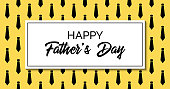 Happy father's day. Vector greeting card. Stylish fashion template with neckties. Facebook link size