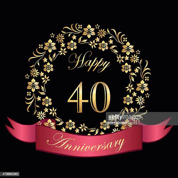 Happy Fortieth Anniversary Card