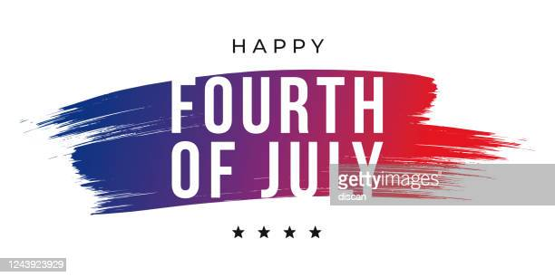 happy fourth of july - united stated independence day greeting. design for advertising, poster, banners, leaflets, card, flyers and background. - independence stock illustrations