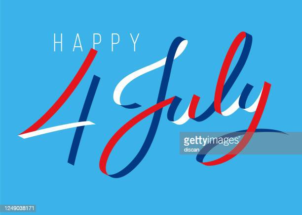 happy fourth of july - united stated independence day greeting. design for advertising, poster, banners, leaflets, card, flyers and background. - july stock illustrations
