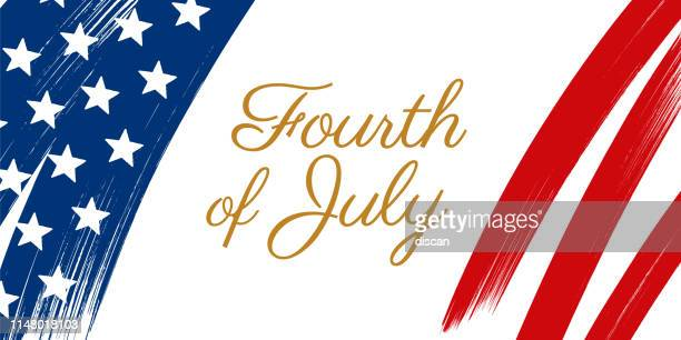 happy fourth of july - united stated independence day greeting. - fourth of july stock illustrations
