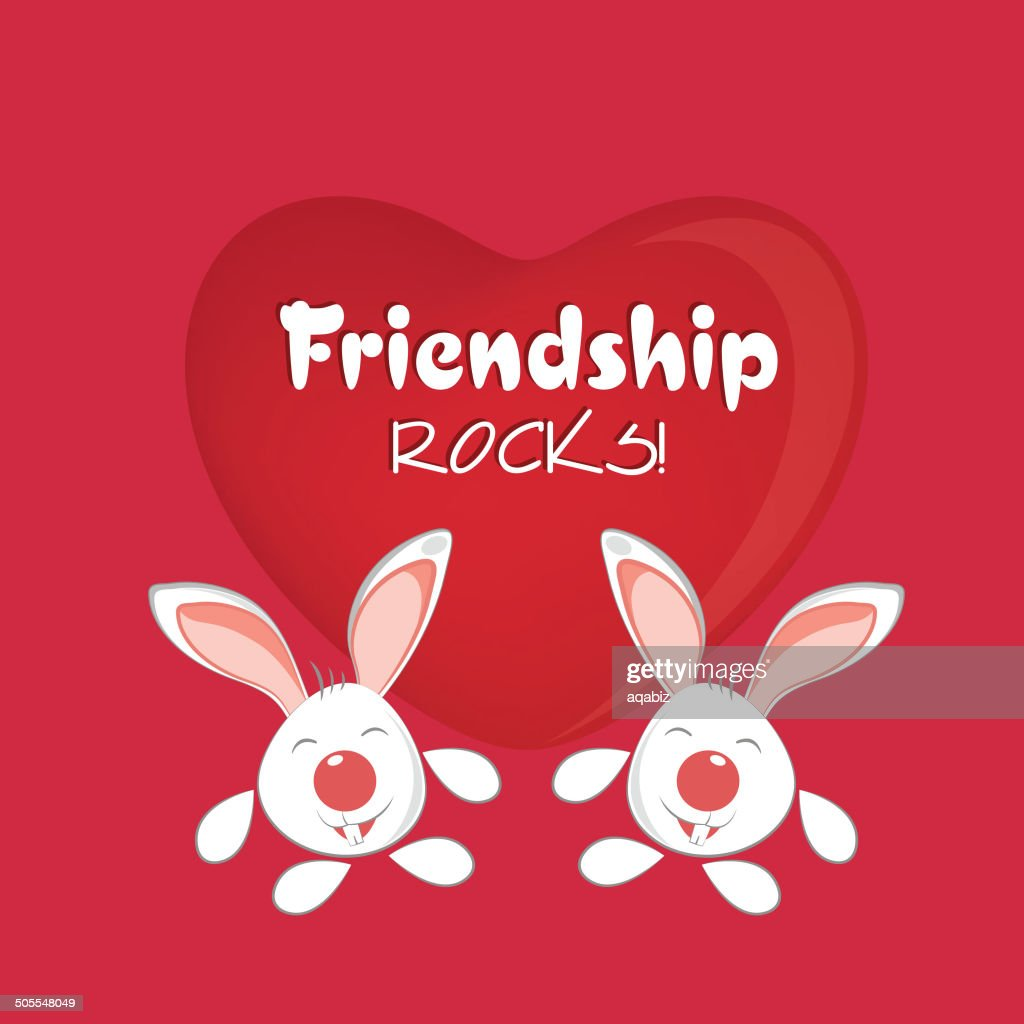 Happy Friendship Day Celebrations Greeting Card Design Vector Art