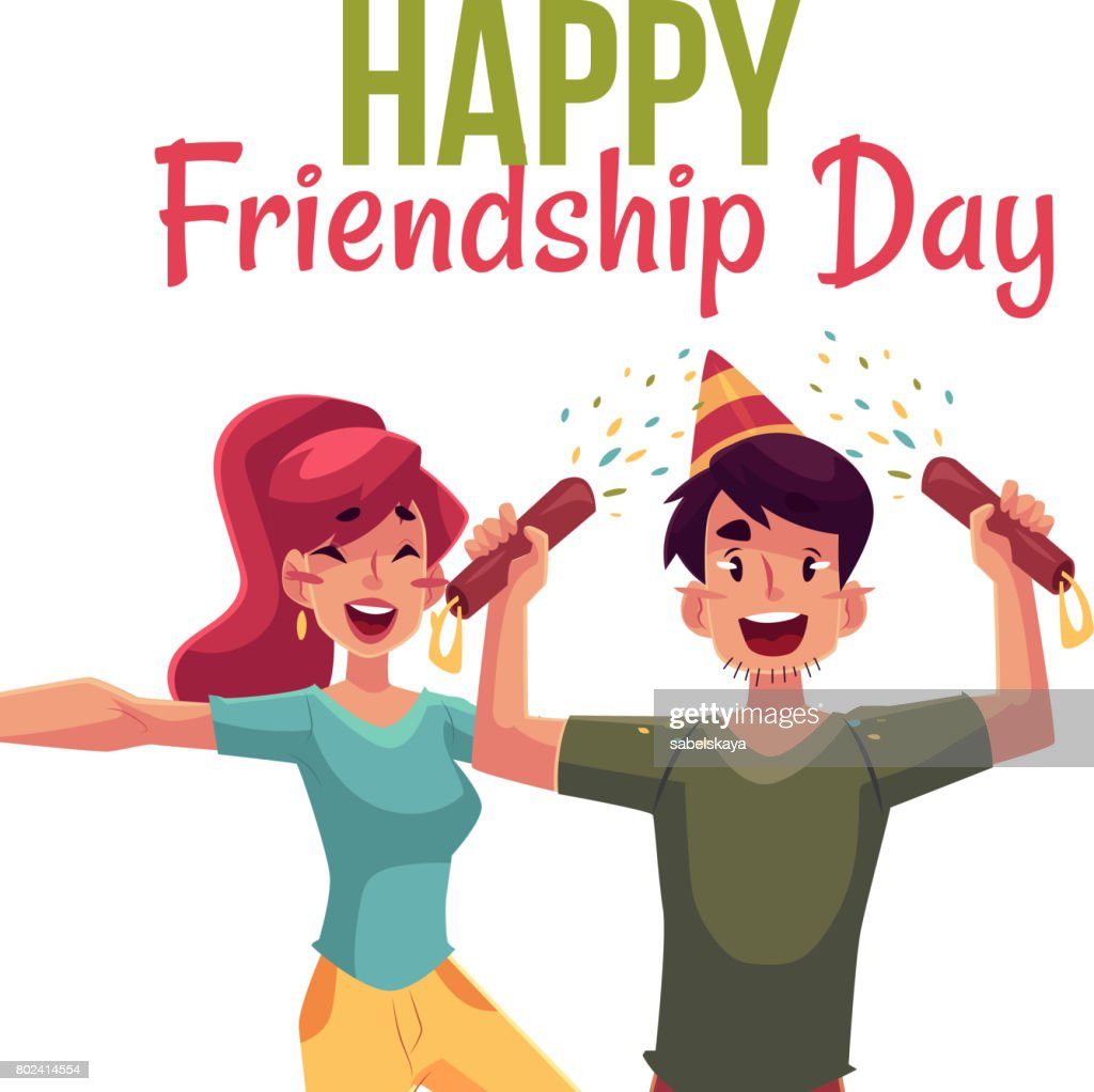 Happy Friendship Day Greeting Card Vector Art Getty Images