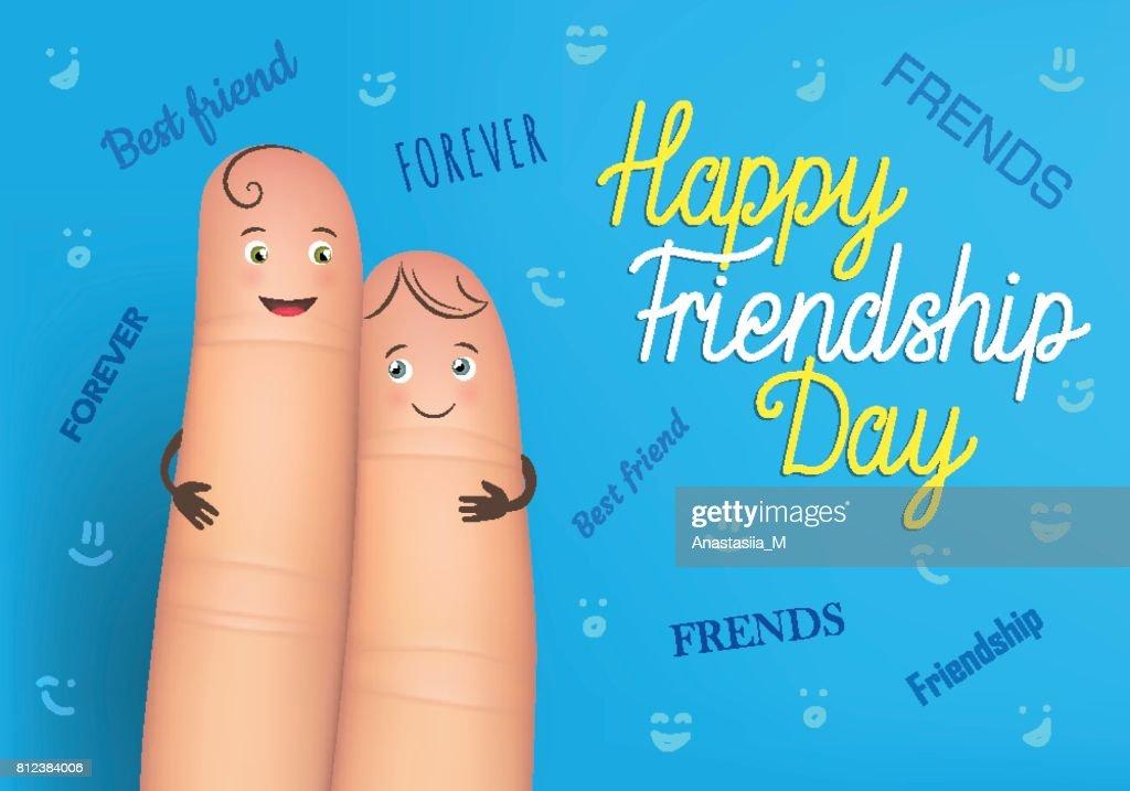 Happy Friendship Day Poster Vector Art