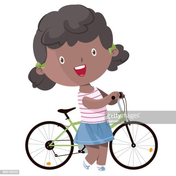 happy girl bike