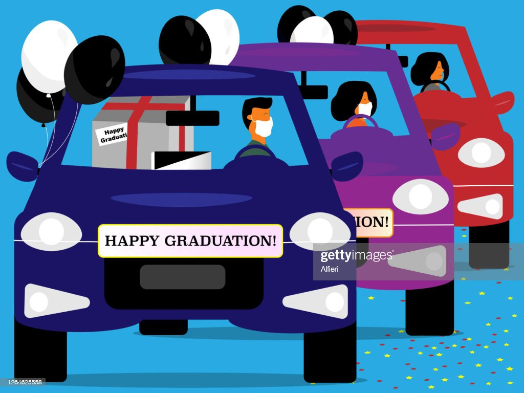 Happy Graduation Car Parade High Res Vector Graphic Getty Images