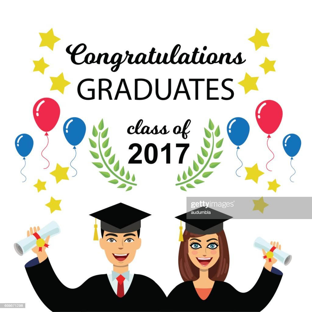 happy graduation card vector art getty images