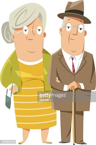 Feliz pareja abuelos