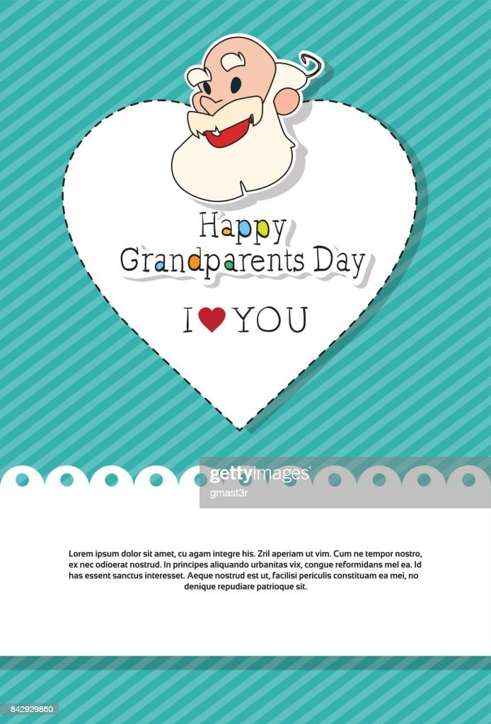 Happy grandparents day greeting card banner vector art getty images happy grandparents day greeting card banner vector art m4hsunfo