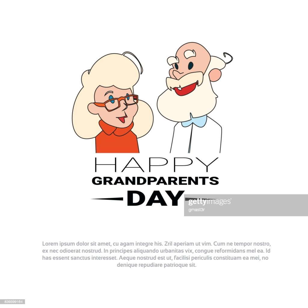 Happy grandparents day greeting card banner with grandfather and happy grandparents day greeting card banner with grandfather and grandmother vector art m4hsunfo