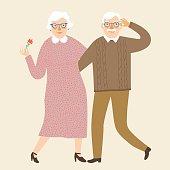 Happy grandparents together