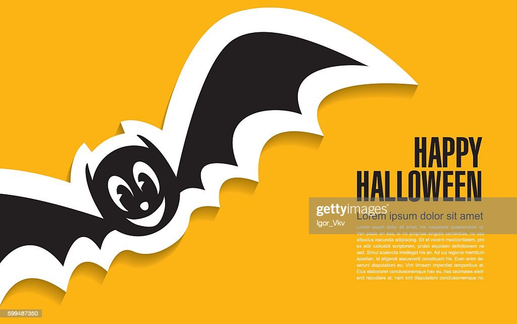 Happy halloween. Bat