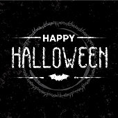 Happy Halloween card in a grunge style
