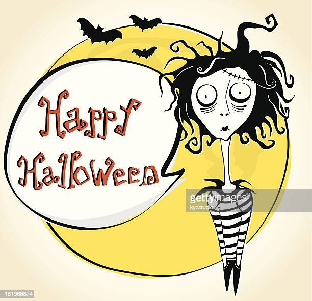 Happy Halloween celebration with zombie character