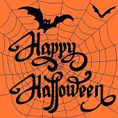 Happy Halloween design elements. Halloween design elements, logos, badges, labels, icons and objects.