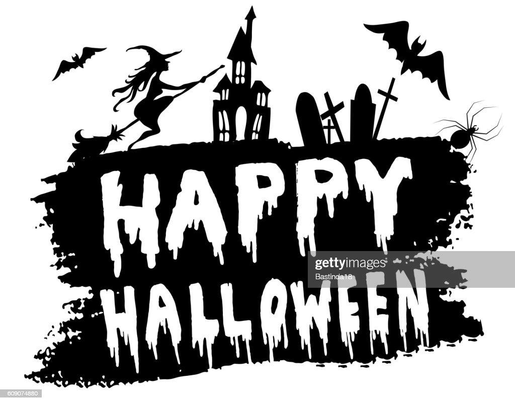 Happy Halloween hanwritten