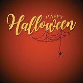 Happy Halloween lettering design.