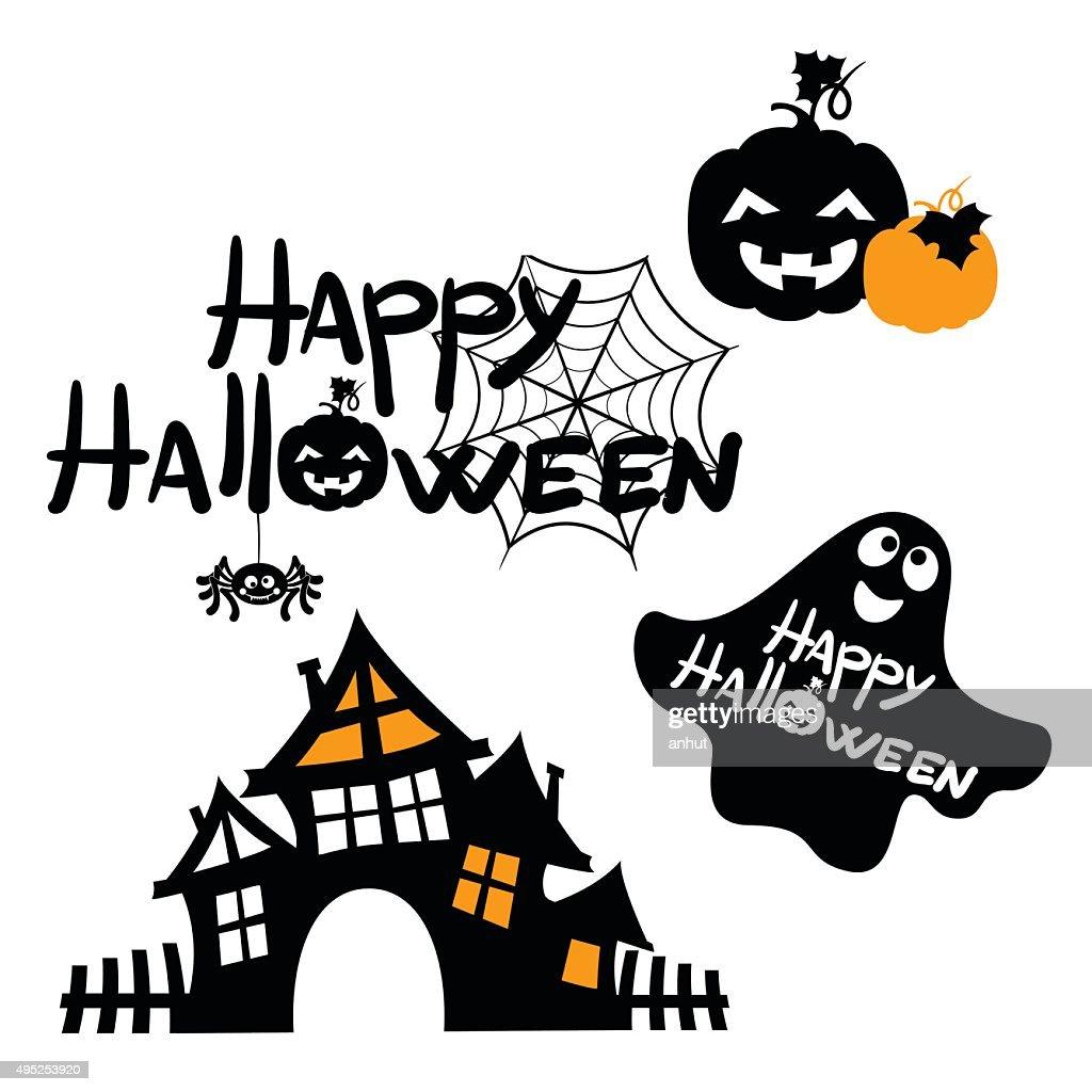 happy halloween message design background vector illustration vector