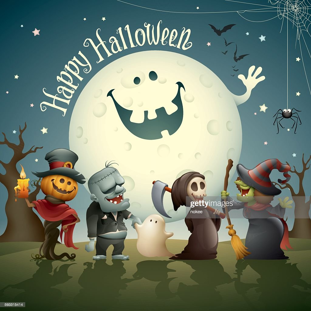 Happy Halloween Monsters High Res Vector Graphic Getty Images