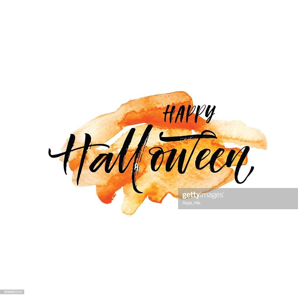 Happy Halloween postcard.
