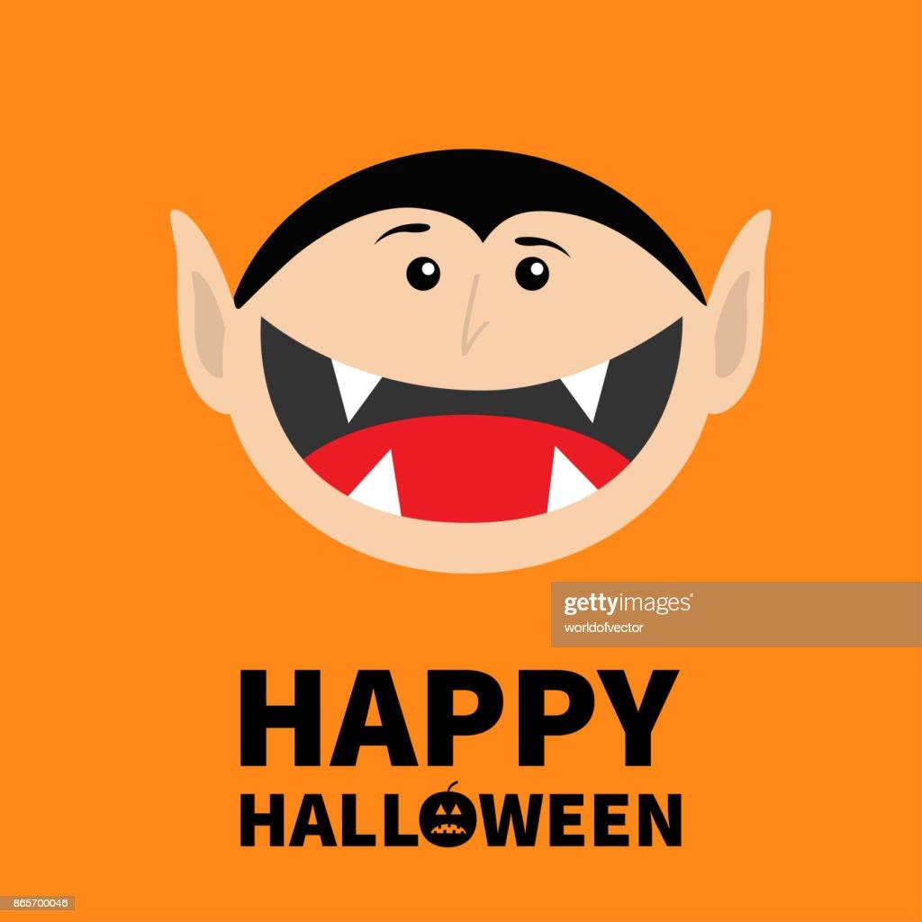 Texte De Citrouille Halloween Heureux Comte Dracula Tête De