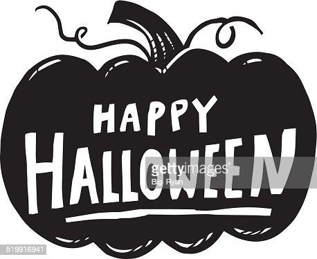 happy halloween pumpkin vector art | getty images