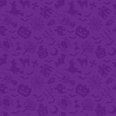 Happy Halloween. purple background.