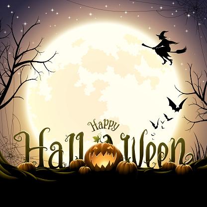 Happy halloween text with pumpkins - gettyimageskorea