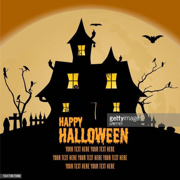 happy halloween - halloween scary stock illustrations
