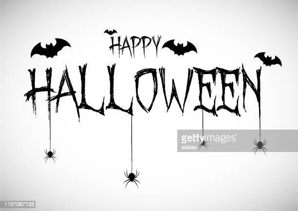 happy haloween konzept - halloween stock-grafiken, -clipart, -cartoons und -symbole