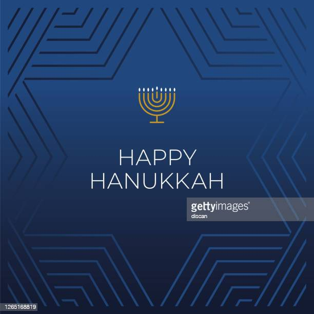 happy hanukkah card template. - happiness stock illustrations