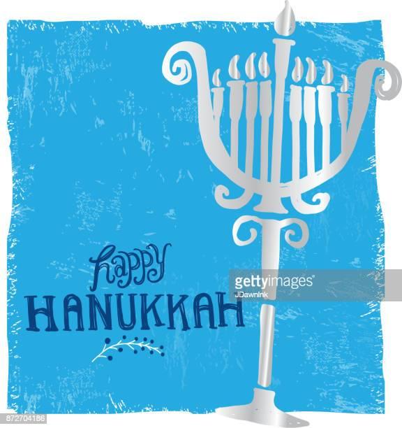Happy Hanukkah greeting card design template