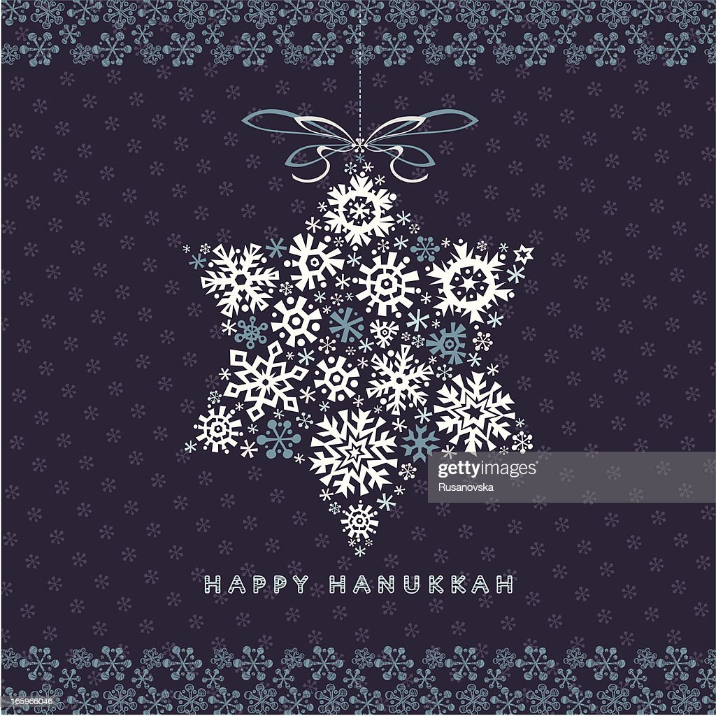 Happy Hanukkah Greetings Card : stock illustration